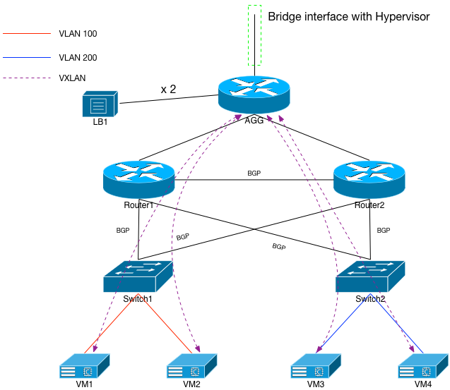 Fig 7: VXLAN to Servers