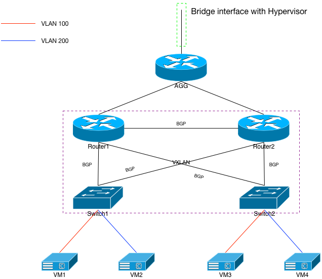 Fig 5: VXLAN to the Routers
